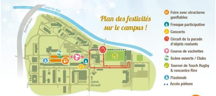 plan des festivités : 50 ans de l'INSA de Toulouse