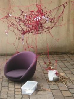 Installation A. Fatin, Semaine de l'Étudiant 2012 © MH