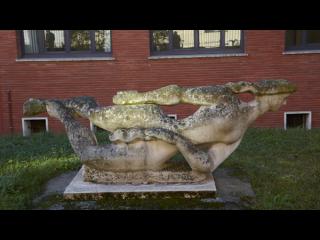 Scultpure en pierre réalisée par Joseph Monin