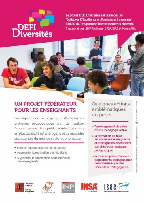 Flyer enseignants / IDEFI Diversités
