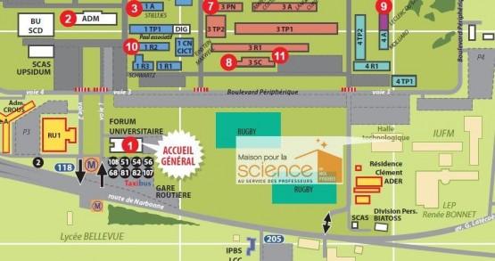 plan d'accès Maison pour la science