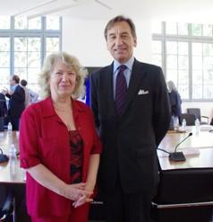 MF Barthet, présidente de l'UFTMP et Thierry Dana, Ambassadeur au Japon